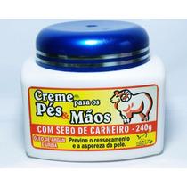 Creme Pés/mãos Sebo De Carneiro, Oleo De Argan, Uréia 240 Gr