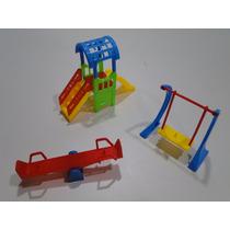 Mini Parque Peppa Playmobil Lego Diversões Escorrega Balanço