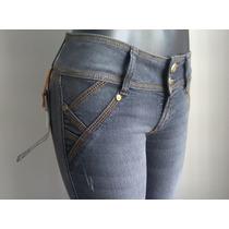 Bello Pantalon Dama Blue Jeans Levanta Cola Strech Studio F