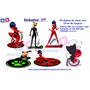 Kit 6 Miraculous Ladybug 22cm Festa Infantil Mdf