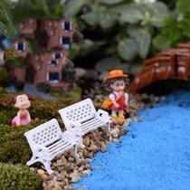 3 Mini Banco Jardim Terrários Enfeites Miniaturas Cadeira