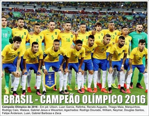 Poster Da Seleção Brasileira - Campeão Das Olimpíadas 2016 - R  24 ... 550c108612c9d