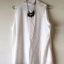 Blusa De Mujer Informal Sin Mangas Lisa (blanco)