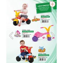Triciclo Velotrol Xalingo Pedal Criança Bebe Cores Diversas