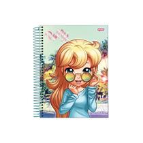 Caderno Universitária Polly Pocket 200 Folhas 10x1 Capa Dura