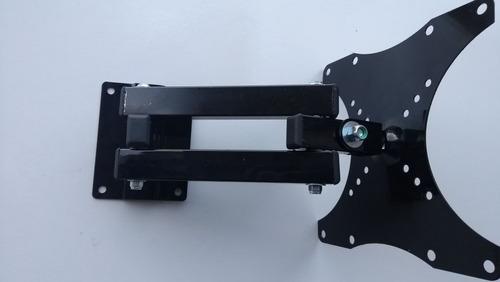 suporte para tv articulado até 43 pol - 30 cm de extensão-4b - r$ 26