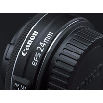 Lente Canon Nova 24mm F/2.8 Stm C/ Garantia -mercadoplatinum