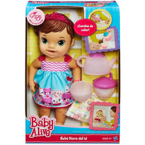 Boneca Baby Alive Morena - Hora Do Chá - Hasbro
