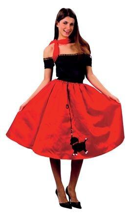 3686f703bd Disfraz De 1950s Falda Roja Rock N Roll Para Damas -   309.79 en ...