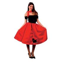 Disfraz De 1950s Falda Roja Rock N Roll Para Damas