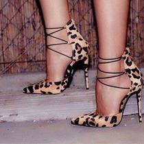 Sapato Scarpin Oncinha Deslumbrante Importado Pronta Entrega
