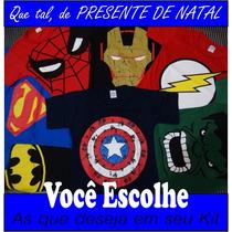 Kit Com 6 Camisas Infântis De Super Heróis