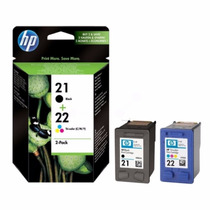 Cartuchos Combo Pack Hp 21 & 22 Negro Y Tricolor Original