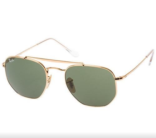 38026f7c4f235 Óculos Ray Ban Hexagonal Dourado Unissex Rb3548 Original - R  309