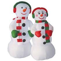 Mono Nieve Inflable Adorno Navidad Iluminación Navideño