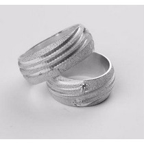 Par De Alianças Em Prata 950k Diamantadas 10mm