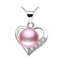 Hermoso Set Corazón De Perlas Naturales!