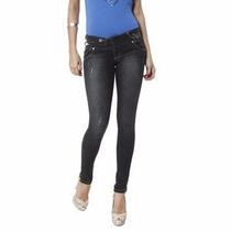 Calça Vakko Jeans Skinny Com Puídos Preto 38