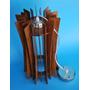 Lámpara Ecológica De Madera T-104 (eucalyptus Rosado)