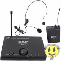 Microfone Sem Fio Skp Uhf Headset Auricular Mini V Kadu Som