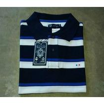 Camisa Polo Masculina Elle Et Lui Azul & Branca Tamanho - M