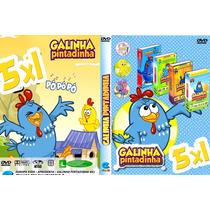 Coleção Box Dvd 5 Em 1 Galinha Pintadinha! 1 2 3 4 + Extras
