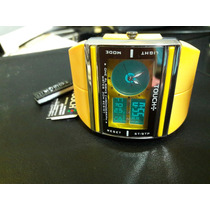 Relógio Touch Premium Amarelo Com Analógico/digital (novo)