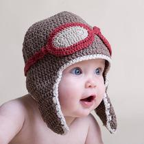 Touca De Aviador Em Crochê - Gorro Newborn Para Bebês Bonê