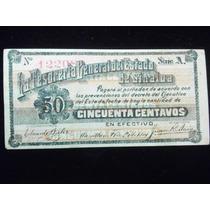 Billete De La Tesoreria General De Sinaloa 50 Centavos