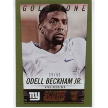 2014 Score Gold Zone Rookie Odell Beckham Jr Giants /50