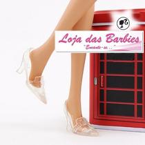 Sapato Cristal Para Boneca Barbie * Sapatinho Cinderela