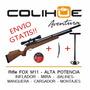 Rifle Pcp Fox M 11 Inflador Mira Balines Manguera Cargador
