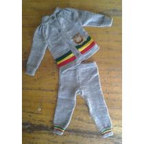 Bebê Reggae Roupa Conjunto Reggae De Tricô Com Leão Cinza