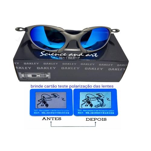 Oculos Oakley Romeo 1 Azul Bebê + Certificado+teste+frete - R  120,00 em  Mercado Livre cf1d0b5e55