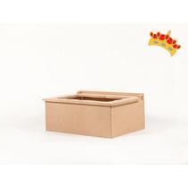 Caja De Te Con Vidrio 4 Div X12 En Fibrofacil Oferta!