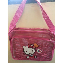 Bolso Transparente De Hello Kitty En Color Fucsia- Pañalera