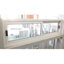 Ventana De Aluminio Blanco 1,50 X 0,40 Mts
