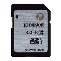 Cartão Sd Sdhc Kingston 32gb Classe 10 45mb/s - Sd10vg2/32gb