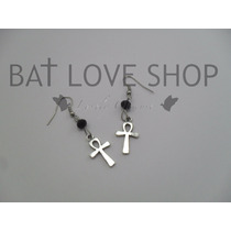 Aretes Cruz Ank Goth Dark New Goth