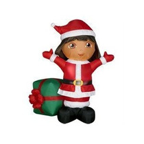 Adorno Navideño Inflable Dora Exploradora Decoracion Navidad