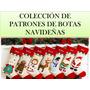Kit Patrones Imprimibles Botas De Navidad Decoracion