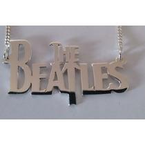 Cordão Corrente Em Prata 925 Com Pingente The Beatles