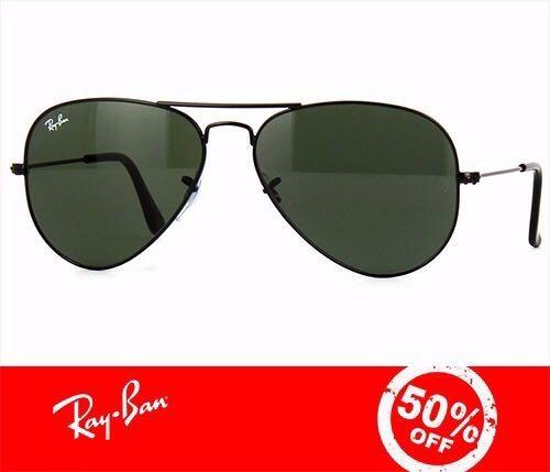 7e5a9837d Ray Ban Aviador 3025 Preto Com Verde G15 Original + Brinde - R$ 221,64 em  Mercado Livre