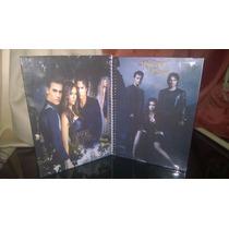Caderno The Vampire Diares De Anotações Com Adesivos
