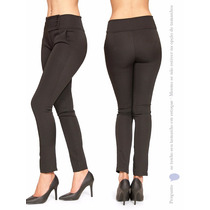 Calça Social Feminina Two Way Preta Openn Skinny C Lycra 812