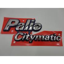 Emblema Palio Citimatic ( Azul/ Cromado)