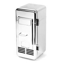 Refrigerador Portátil Cromado Usb Para Una Lata Geek Cooler