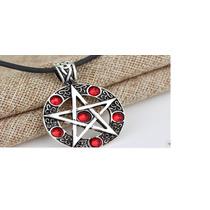 Colar Pingente Pentagrama Wicca Esoterismo Maçonaria