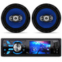 Toca Mp3 Carro Usb Frontal Sd Aux Multilaser Rock + Falante