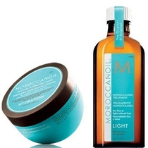 Moroccanoil Máscara Hidratante 250ml + Oleo Light 125ml